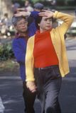 Chinese Americans practicing Tai Chi. North Beach, Can Francisco, CA Stock Image