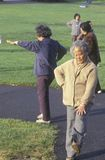 Chinese Americans practicing Tai Chi, Stock Images