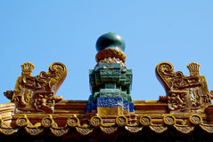 Chinese ancient architectural decoration Royalty Free Stock Photo
