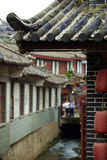 Chinese ancient architecture. ,800-year history of the ancient city of。The lives of the residents leisure Royalty Free Stock Images