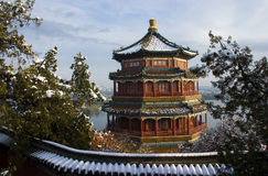 Chinese ancient architecture. Of Summer Palace in beijing china Royalty Free Stock Photo