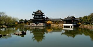 Chinese ancient architecture. Chinese ancient classical architecture in Tongli Town Stock Photography
