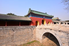 Chinese ancient architecture - Beijing Tiantan. China ancient buildings - Beijing Tiantan is the place where the emperors of the Qing Dynasty worship, pray for Stock Photography