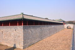 Chinese ancient architecture - Beijing Tiantan. China ancient buildings - Beijing Tiantan is the place where the emperors of the Qing Dynasty worship, pray for Royalty Free Stock Photos