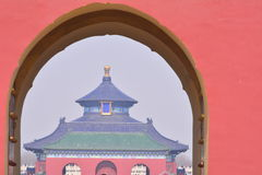 Chinese ancient architecture - Beijing Tiantan. China ancient buildings - Beijing Tiantan is the place where the emperors of the Qing Dynasty worship, pray for Royalty Free Stock Images