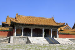 Chinese ancient architecture in the Eastern Royal Tombs of the Q Royalty Free Stock Image
