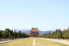 Chinese ancient architecture in the Eastern Royal Tombs of the Q Royalty Free Stock Photos