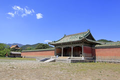 Chinese ancient architecture in the Eastern Royal Tombs of the Q Stock Photography