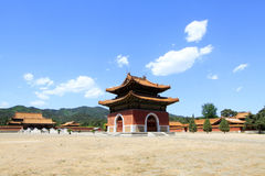 Chinese ancient architecture in the Eastern Royal Tombs of the Q Royalty Free Stock Images