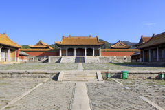 Chinese ancient architecture in Eastern Royal Tombs of the Qing Stock Photos