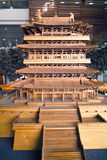 Chinese ancient architecture model Royalty Free Stock Images