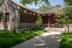 Chinese ancient architecture. In the spring Stock Photo