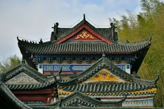Chinese ancient architecture, temple stock photos