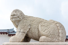 Chinese ancient beast (Xiezhi) in front of Gyeongbokgung Palace Stock Images