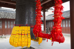 Chinese ancient bell at buddhist temple Royalty Free Stock Images