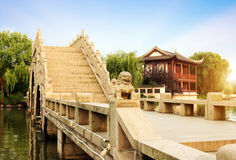 Chinese ancient bridge Stock Images
