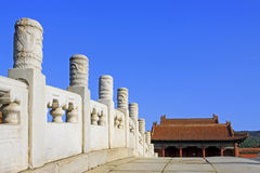 Chinese ancient bridge and palace in Eastern Royal Tombs of the Royalty Free Stock Photo