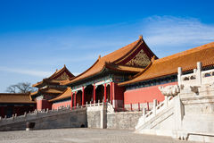 Chinese ancient building. The Forbidden City, Beijing, China Royalty Free Stock Images