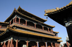 Chinese ancient building in beijing lama temple Royalty Free Stock Images