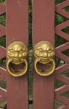 Chinese ancient building doors and Windows Stock Photography
