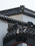 Chinese ancient building eaves. The old buildings in furong street in Ji'nan city Shandong Province China Stock Images