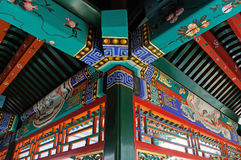 Chinese ancient building interior Stock Images