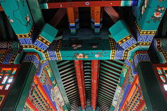 Chinese ancient building interior Stock Photo