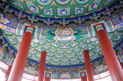Chinese ancient building interior Royalty Free Stock Photos
