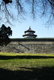 Chinese ancient building tiantan. The image of Chinese ancient building, tiantan, watching out of the wall Stock Photography