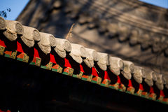 Chinese ancient buildings roof Stock Photo