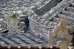 Chinese ancient buildings roofing structure Royalty Free Stock Photo
