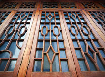 Chinese ancient buildings windows Royalty Free Stock Images