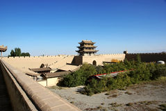 Chinese ancient city  in desert Royalty Free Stock Image