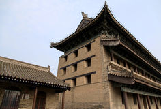 Chinese ancient city wall and gate in Xian city Stock Images