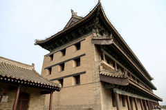 Chinese ancient city wall and gate in Xian city Royalty Free Stock Photos
