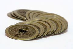 Chinese Ancient Coin. A chinese ancient coin for feng shui use Royalty Free Stock Images