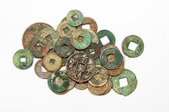 Chinese ancient coins Stock Photos