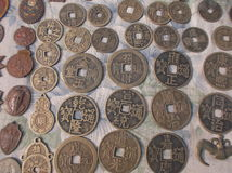 Chinese ancient coins Royalty Free Stock Photos