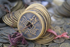 Chinese ancient coins Stock Images