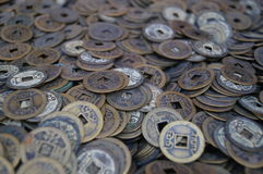 Chinese ancient coins Stock Image