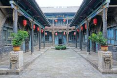 Chinese ancient courtyard Royalty Free Stock Images
