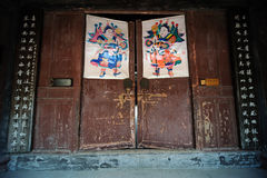 Chinese ancient door Royalty Free Stock Images