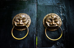 Chinese ancient door knocker Stock Photo