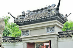 Chinese ancient door. In park Stock Photo