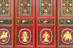 Chinese ancient doors Royalty Free Stock Images