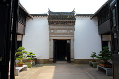 Chinese ancient family compounds. This is a chinese ancient family compounds in Suzhou garden royalty free stock image