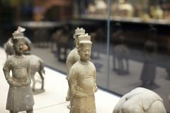 Chinese ancient figure statue of Tang dynasty Stock Image