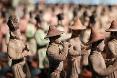 Chinese ancient figure statue of Tang dynasty Stock Photo