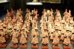 Chinese ancient figure statue of Tang dynasty Stock Photos