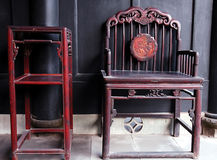 Chinese ancient furniture royalty free stock photography